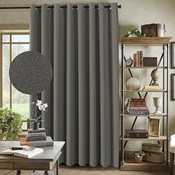 Extra Wide Linen Curtains for Patio Blackout Linen Curtain f