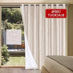 H.VERSAILTEX Wide Thermal 100% Blackout Patio Curtain Panel