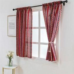 Wide Thermal Blackout Window Curtain Sheer Valance Balcony L