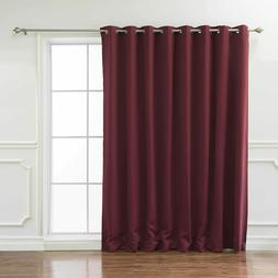 Best Home Fashion Wide Thermal Grommet Blackout Curtain - Bu