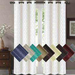 2 Panels Willow Blackout Window Curtain Panels Heat Full Lig
