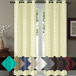 Willow Jacquard Thermal Insulated Blackout Curtains  84W x 1