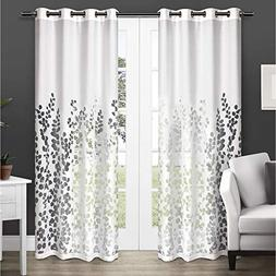 Exclusive Home Wilshire Burnout Sheer Grommet Top Curtain Pa
