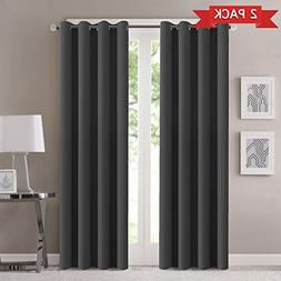 Blackout Grey Curtain Panels Window Draperies Energy Smart B