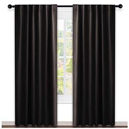 NICETOWN Window Curtains Blackout Drapery Panels -  52 Inch