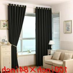Window Curtains Blackout Room Thermal Insulated 1 Panels 100