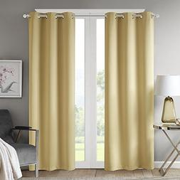 Comfort Spaces - Windsor Solid Yellow Window Curtain Pair/Se