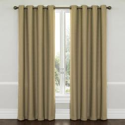 Eclipse Wyndham Grommet Brushed Nickel Blackout Window Curta