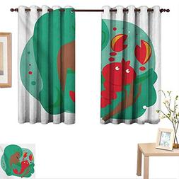 Zodiac Scorpio Thermal Insulating Blackout Curtain Colorful